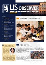 Observer 11/2009 - Leipzig International School: Home