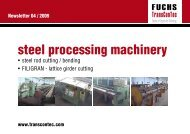 steel processing machinery