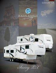 View the Savoy LX manufacturer brochure - Al's Trailer Sales