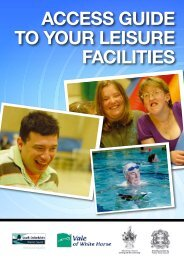 ACCESS GUIDE TO YOUr LEISUrE FACILITIES - Vale of White ...
