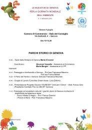 PARCHI STORICI DI GENOVA - Unicef