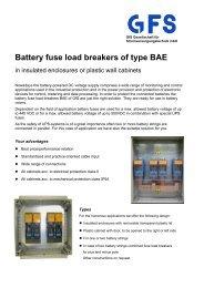 Prospect BAE - GFS Gesellschaft für Stromversorgung mbH