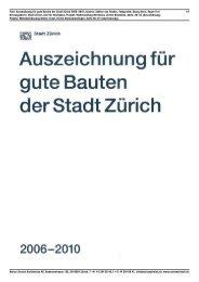 Adrian Streich Architekten AG, Badenerstrasse 156, CH-8004 Zürich ...