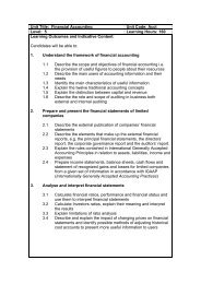 Unit Title: Financial Accounting Unit Code: Acct Level: 5 Learning ...