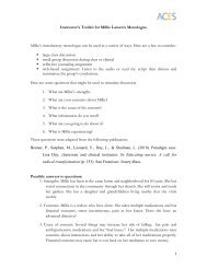 1 Instructor's Toolkit for Millie Larsen's Monologue Millie's ...