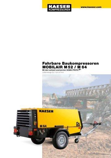 Fahrbare Baukompressoren MOBILAIR M 52 / M 64