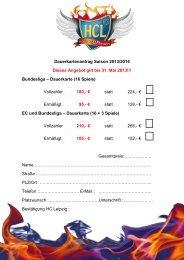 Bundesliga – Dauerkarte (16 Spiele) - HC Leipzig