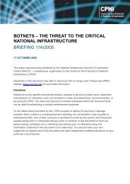 Botnets - the threat to the critical national infrastructure ... - CPNI
