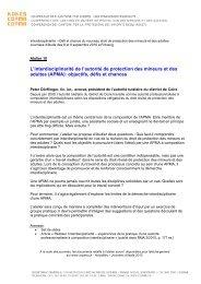 L'interdisciplinarité de l'autorité de protection des mineurs et ... - Kokes