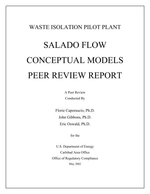 Section 2.1.2 - Waste Isolation Pilot Plant - U.S. Department of Energy