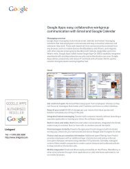 Google Apps: easy, collaborative workgroup ... - Zift Solutions