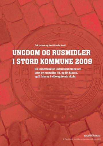 """Les hele rapporten""""Ungdom og rusmidler i Stord ... - KoRus Bergen"""
