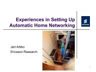 Experiences in Automatic Home Networking - RIPE 64