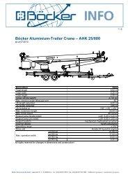 Böcker Aluminium-Trailer Crane – AHK 25/800