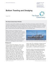 Bottom Trawling and Dredging - Ocean Conservancy