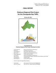 FINAL REPORT Piedmont Regional Pilot Project for the ...