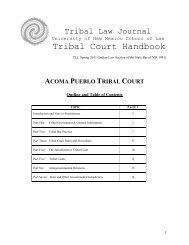 Tribal Court Handbook - Tribal Law Journal - University of New Mexico