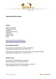 110222 Medieninformation 25hours Hotel Wien - Release