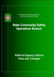 fees - Queensland Fire and Rescue Service