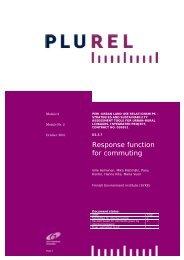 Response function for commuting - Plurel