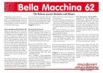 Die Reform unserer Bachelor und Master - Fachschaft Maschinenbau