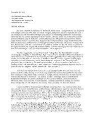 November 30, 2010 The Honorable Barack Obama The White ...
