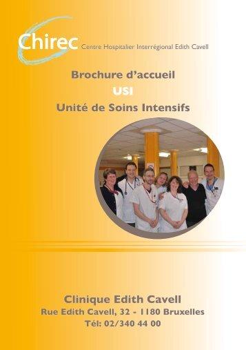 Brochure d'accueil USI Unité de Soins Intensifs Clinique ... - Chirec