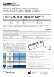 The NGAL Test™ Reagent Kit SIEMENS DIMENSION ... - LAB MARK