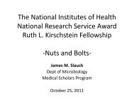 The National Institutes of Health National Research Service Award ...