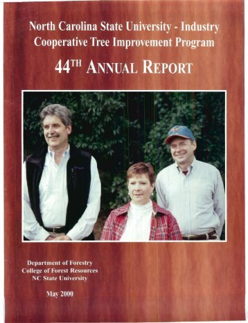 Annual Report 44, published in 2000 - Tree Improvement Program