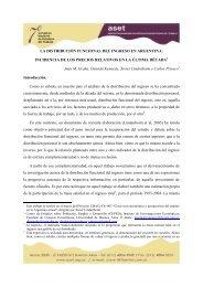LA DISTRIBUCIÓN FUNCIONAL DEL INGRESO EN ... - ASET