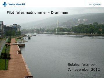 Felles nødnummerpiloten i Drammen - KoKom