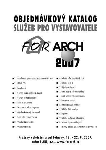 Objednávkový katalog služeb - For Arch