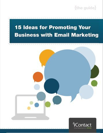 15 Ideas for Promoting Your Business with Email Marketing - iContact