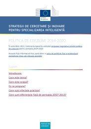 Strategii de Cercetare Şi Inovare pentru Specializarea ... - Europa