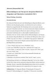 Abstracts Chin.med Heft 1/06 Differentialdiagnose und Therapie der ...