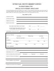 Event Permit Application - Otter Tail County
