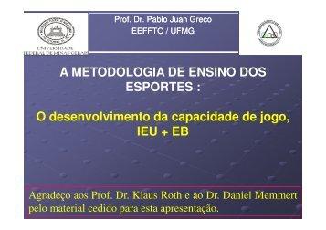 A METODOLOGIA DE ENSINO DOS ESPORTES : O ...