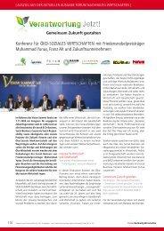 Konferenz für ÖKO-SOZIALES WIRTSCHAFTEN mit ...