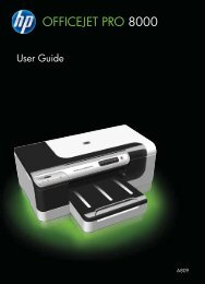 HP Officejet Pro 8000 Printer series User Guide - ENWW