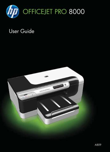 HP Officejet Pro 8000 Printer series User Guide - ENWW