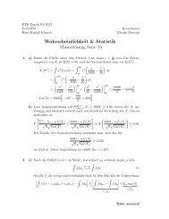 Wahrscheinlichkeit & Statistik Musterlösung Serie ... - FIM - ETH Zürich