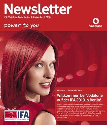 Willkommen bei Vodafone auf der IFA 2010 in Berlin! - Vodafone EP