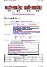 Mathematik für alle - Leuphana Universität Lüneburg