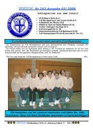 SPORTECHO Nr.243,Ausgabe 03/2006 TuS-Montagsfrauen mit ...