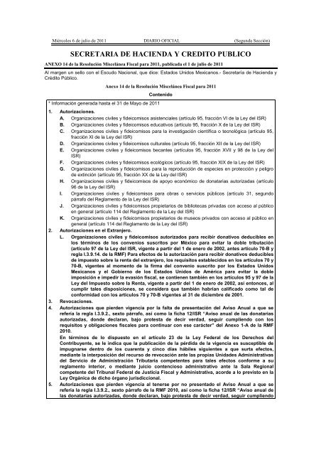 Shcp 6 Jul 11 Instituto Mexicano De Contadores Públicos