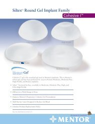Siltex™ Round Gel Implant Family - Mentor