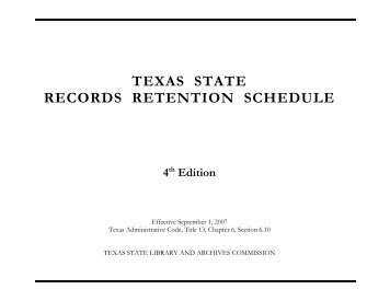 texas state records retention schedule - Admin Portal Index > Home