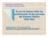 El uso de tabaco entre los adolescentes de las escuelas del ... - UPRM