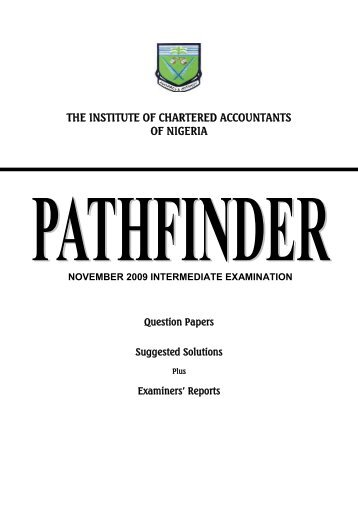 pathfinder - The Institute of Chartered Accountants of Nigeria